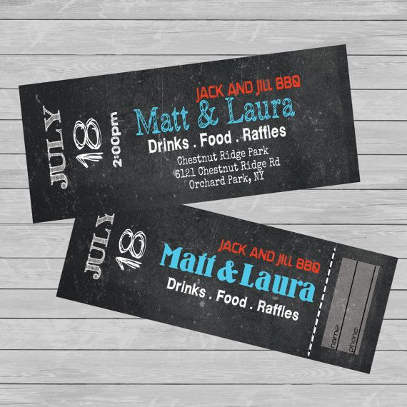 TICKETS - Entry. Jack and Jill - STAG and Doe -Fundraiser - CUSTOM - Print - Digital
