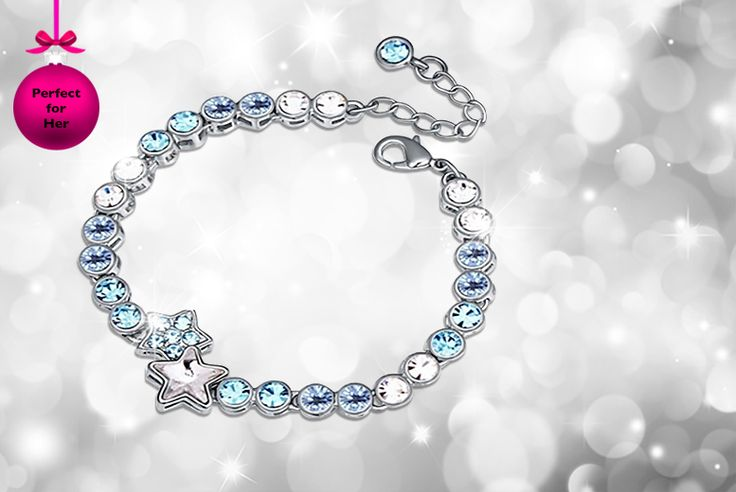 Star Tennis Bracelet made with Swarovski Elements