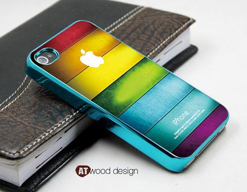 blue silvery Cool iphone 4s case cool iphone 4 cover by Atwoodting (iphone 4s covers iphone 4 case iphone 4s case)