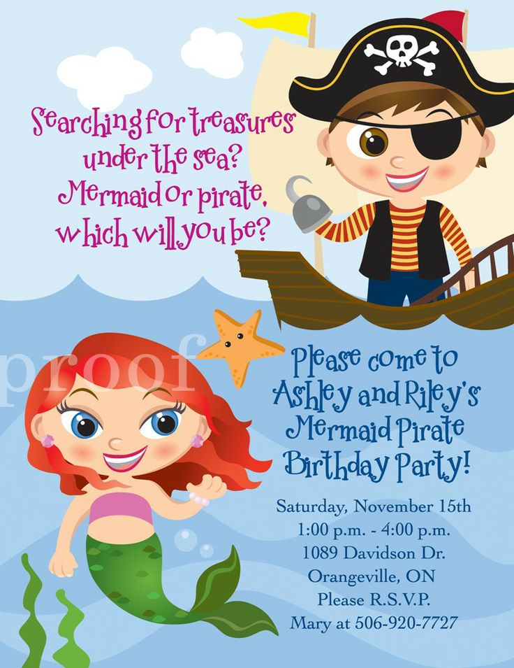 21 best Pirate princess fairy mermaid party images on Pinterest ...