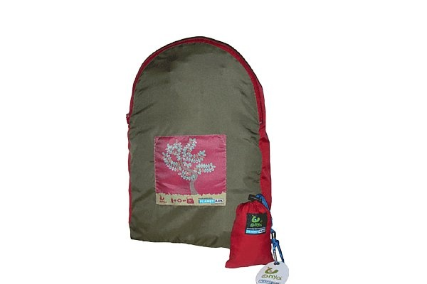 Popular Onya Tree design stuff-away backpack. Made with recycled plastic. Stuffs into small pouch, great to take on holiday/travelling. $24.95 http://www.greengiftsaustralia.com.au/shop/index.php?main_page=product_info&cPath=8&products_id=200