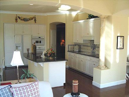66 best images about small open kitchen on pinterest for Open kitchen layout