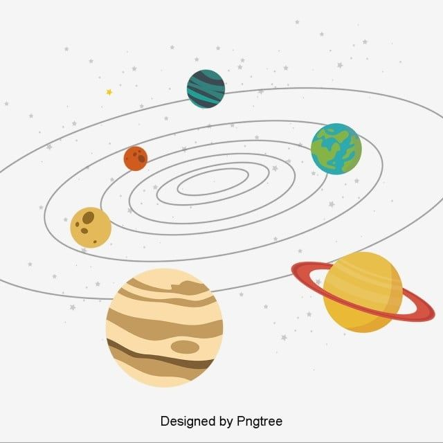 Solar System Cartoon Planets With Stars Solar System Clipart Solar System Png And Vector With Transparent Background For Free Download Planet Vector Solar System Poster Solar System