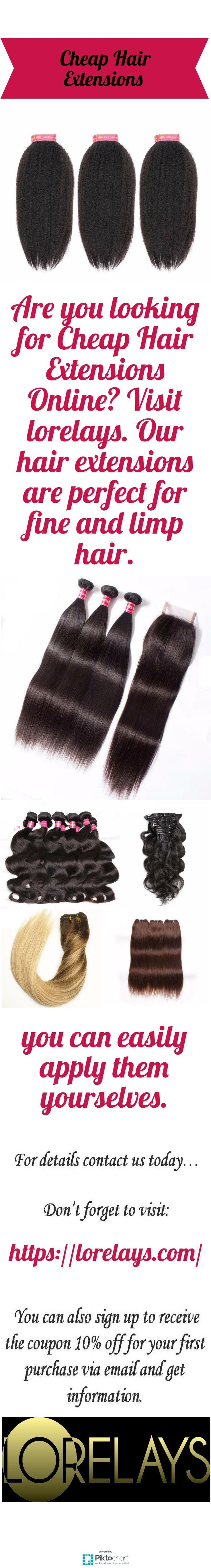 Are you looking for Cheap Hair Extensions Online? Visit lorelays. Our hair extensions are perfect for fine and limp hair. Moreover, you can easily apply them yourselves. Visit website for details.  https://lorelays.com/