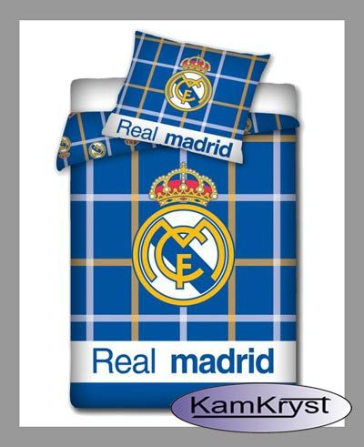 Bedding Real Madrid Blue   Pościel Real Madryt Blue #real_madrid #ronaldo