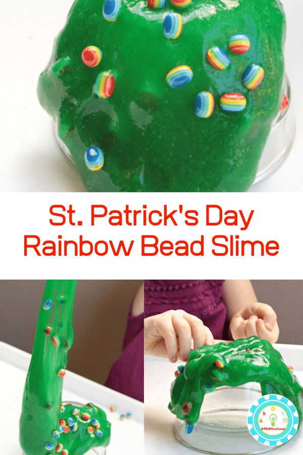 Rainbow Bead Sensory Slime for Preschool | Science ...