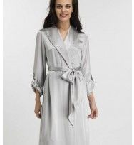 For Every Minute - Classic Silk Robe