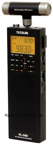 tecsun pl 360 digital pll portable am fm shortwave radio with dsp black kaito. Black Bedroom Furniture Sets. Home Design Ideas