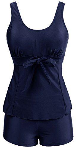 1ccf47dec3db Wantdo Women's Tankini Oriental Porcelain Swimsuit Slimming Swimwear ...
