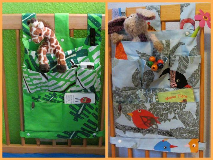 bettutensilos f r die kinderbetten mit je 7 taschen ohne. Black Bedroom Furniture Sets. Home Design Ideas