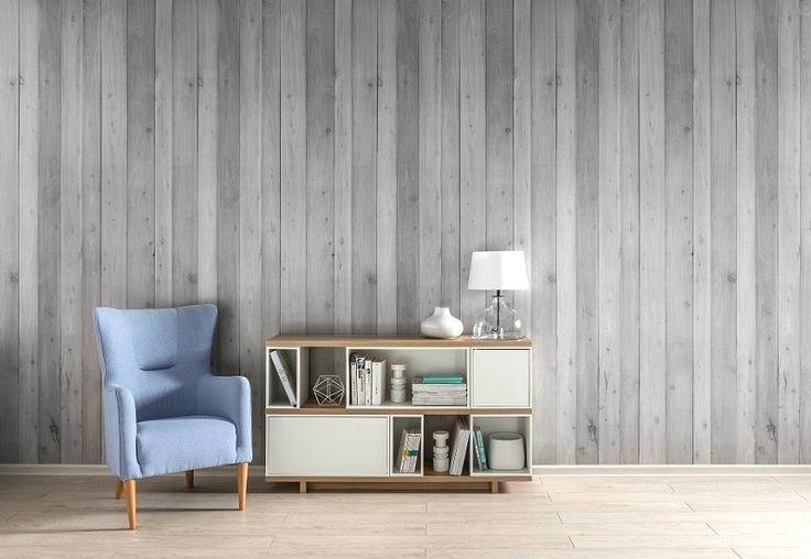 White Wash Pine PVC wall panelling.   Enviroclad - Hygienic PVC cladding, panels, sheets, Decorative Pvc