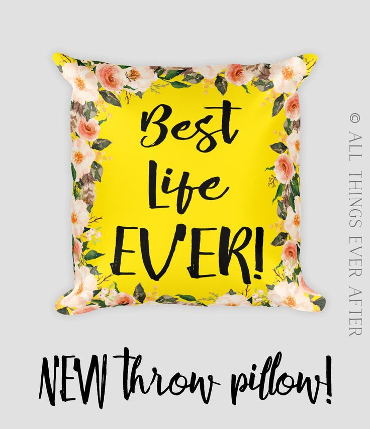 JW | Best Life Ever Floral Square Throw Pillow  | JW | SKE Gift Present | Home Decor | Pioneer | Elder's | Mustard  World Map | Coral by AllThingsEverAfter on Etsy