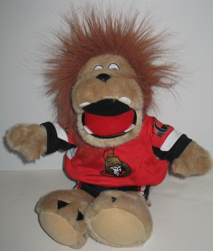 """""""Go Sens Go!"""" roars the Ottawa Senator plush mascot, Sparty. #ottawasenators #hockey"""
