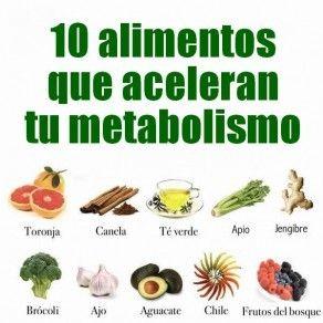 8 alimentos para acelerar tu metabolismo
