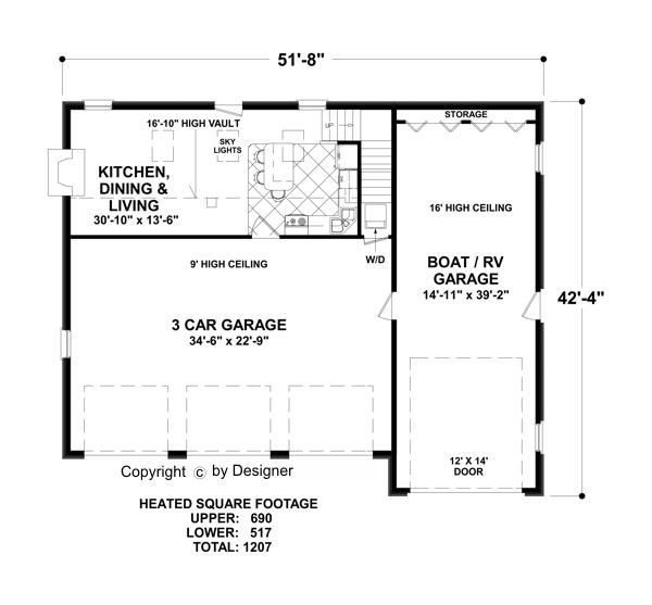 Possibly Cool Cabin Plan, With Some Alterations (garage Area U003eliving, U0026