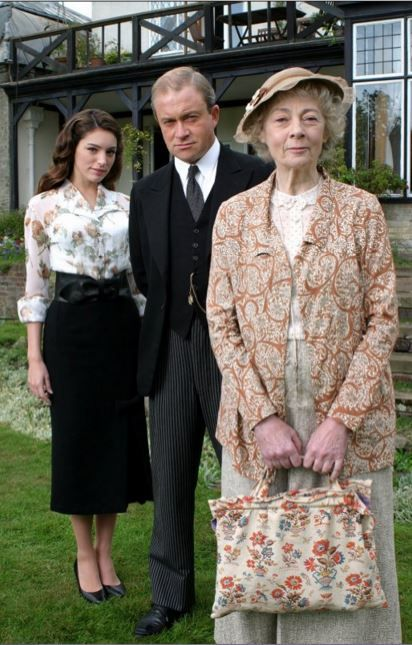 (2004) 'The Moving Finger' starring Kelly Brook as Elsie Holland, Harry Enfield as Richard Symmington, and Geraldine McEwan as Miss Marple.