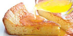 Йогуртовый пирог с цитрусовым сиропом
