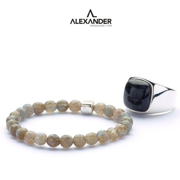 ColorUp Labradorite bracelet and Hope Labradorite Signet ring.