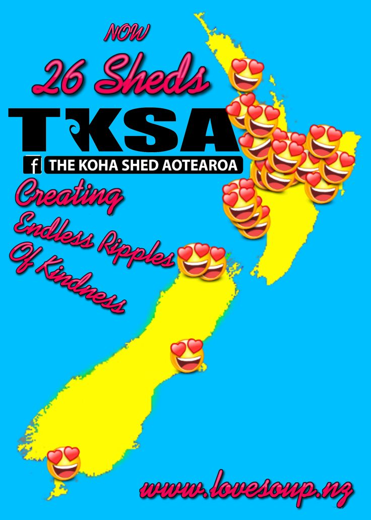 we have officially 26 Koha Sheds in Aotearoa, just a little over 3 years ago, our first shed opened in Wanganui with Sherron Sunnex & Meegan Manuka