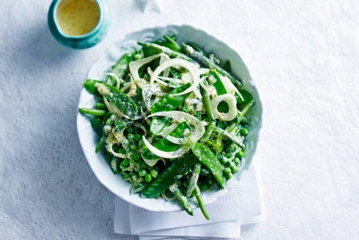 Bijzondere salade met venkel en drie soorten bonen - Recept - Bonen-venkelsalade - Allerhande