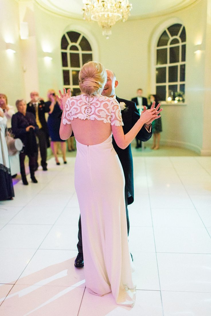 Backless David Fielden Dress | Photography by http://www.victoriaphippsphotography.co.uk/.   Love the lace