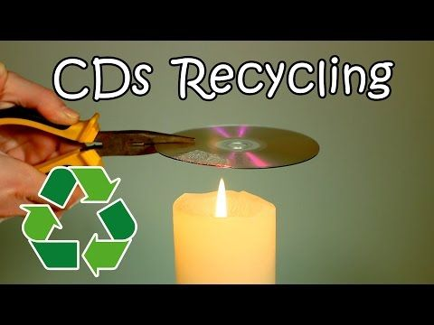 CDs and DVDs Recycling - How To Recycle Your Old CDs Into Useful Stuff - YouTube