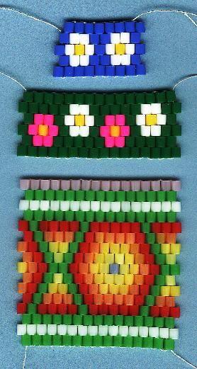 Peyote Stitching with Perler beads - Peyote Bands - Perler Bead jewelry - Fuse bead designs - Perler Bead - Perler bead art - #perlerbead
