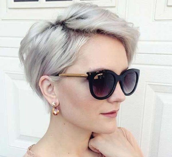 Graue Haarfarben für kurzes Haar – Pixie und Bob Frisuren