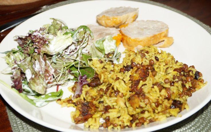 Recept: Perzische rijst met linzen, super simpel, overheerlijk bij Lams tajine met dadels!