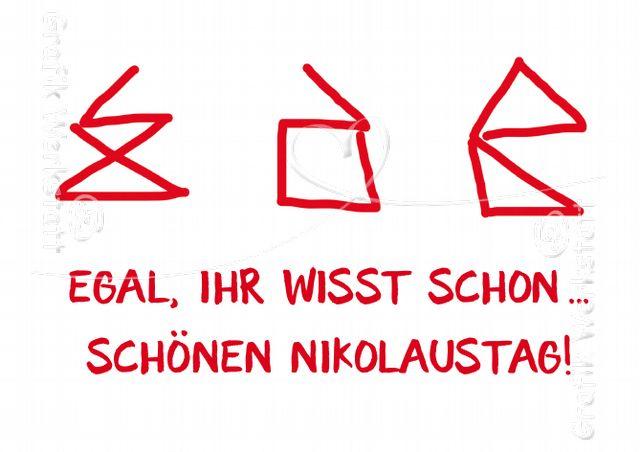Art.Nr. 26164: Doppelkarte - Schönen Nikolaustag!