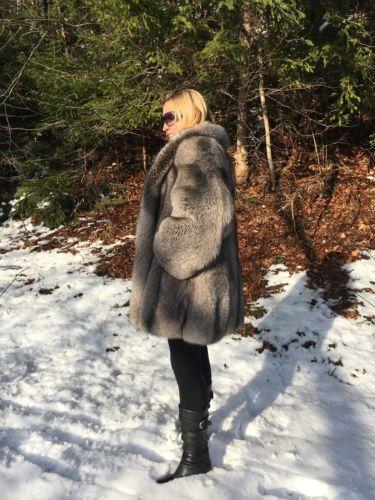 Crystal Fox Fur Coat 3/4 renard manteau de fourrure Soft As sable. Like New, Unisexe?