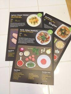 HelloFresh recipe cards