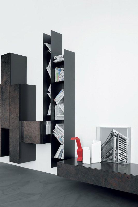sistema modulare | librerie | modello Spazio Moduli | Pianca design made in italy mobili furniture casa home giorno living notte night