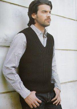 iKnitts: Patron para tejer un chaleco de hombre clasico
