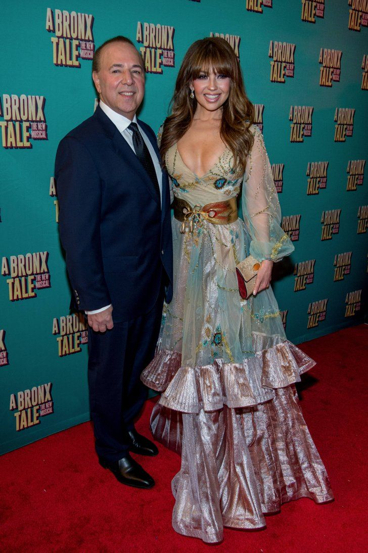 Thalia and Tommy Mottola Spent the Eve of Their Wedding Anniversary on the Red Carpet