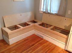 Sitz/Schlafbänke mit Stauraum wichtig: Module mit Rollen dass daraus großen liegefläche für 2 wird