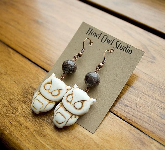 Owl Earrings to support WWF Canada by HowlOwl on Etsy.