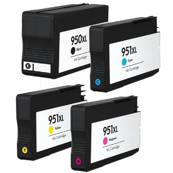 HP 950XL en 951XL cartridges in alle kleuren ook verkrijgbaar in ons eigen huismerk.  Deze cartridges zijn o.a. geschikt voor de printers: • HP Officejet Pro 8100 • HP Officejet Pro 8600 e-All-in-One • HP Officejet Pro 8600 Plus • HP Officejet Pro 8600 Premium  Uiteraard van zeer hoge kwaliteit en allen met 2 jaar fabrieksgarantie!