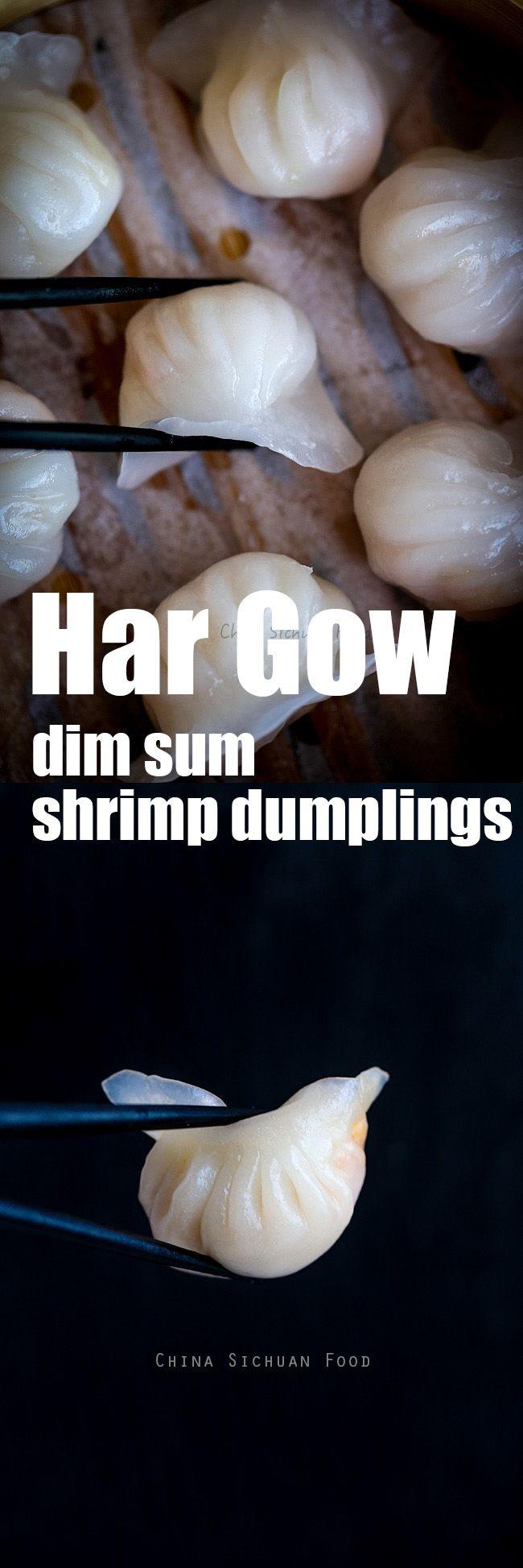 har gow, dim sum style shrimp dumplings ChinaSichuanFood.com