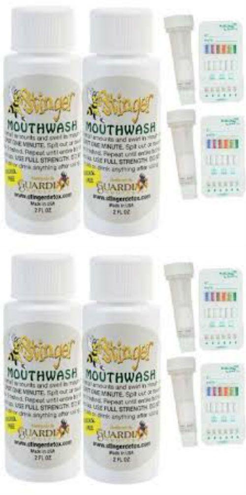 Mouthwash: 2 - Stinger Detox Mouthwash 2 Oz Detox With - 2 Saliva Test BUY IT NOW ONLY: $44.99