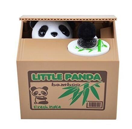 2016 Новый Крой Автоматическая Украл Монет Банка Panda 11.5x9.5x9 см Размер Деньги Сохранение Box Копилка Автоматизированная подарки Для Детей