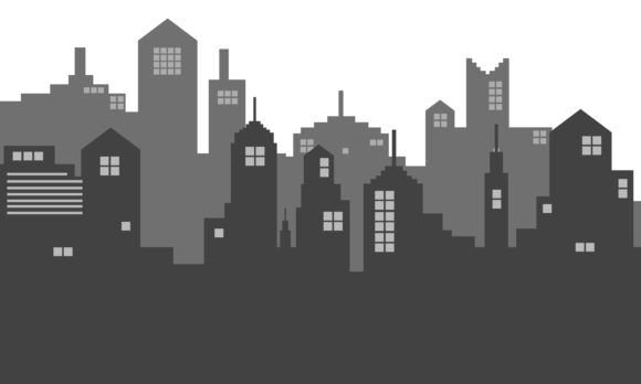 Silhouette City Town With A Shadow Graphic By Cityvector91 Creative Fabrica In 2020 City Silhouette City Vector Shadow Silhouette