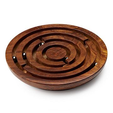 Look what I found at UncommonGoods: Wooden Labyrinth Game for $258.7 #uncommongoods