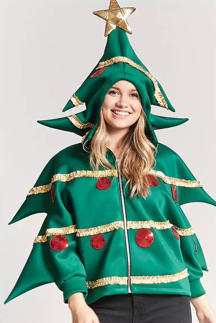 Santa Who All Eyes Will Be On You In This 35 Christmas Hoodie From Forever 21 Christmas Hoodies Christmas Jacket Christmas Sweater Outfits