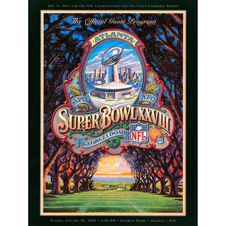 "Fanatics Authentic 1994 Cowboys vs. Bills 22"" x 30"" Canvas Super Bowl XXVIII Program - $79.99"