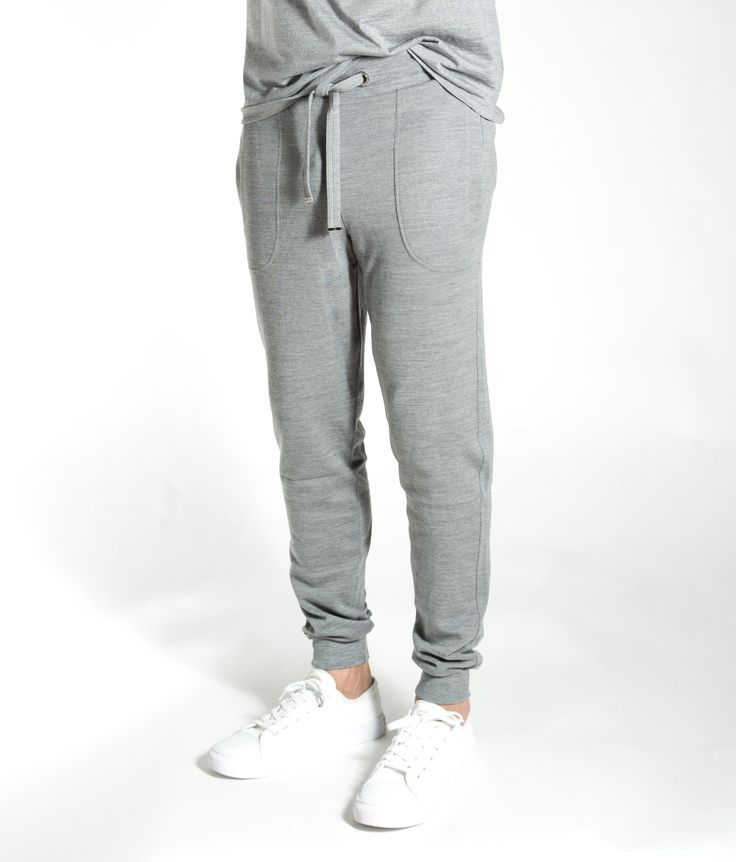 Bjørke Pants men Grey melange