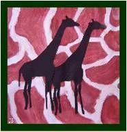 Diersilhouetten - Op vacht. De achtergrond (vacht) wordt geschilderd, het silhouet wordt gemaakt van zwart papier. Geschikt vanaf groep 5.