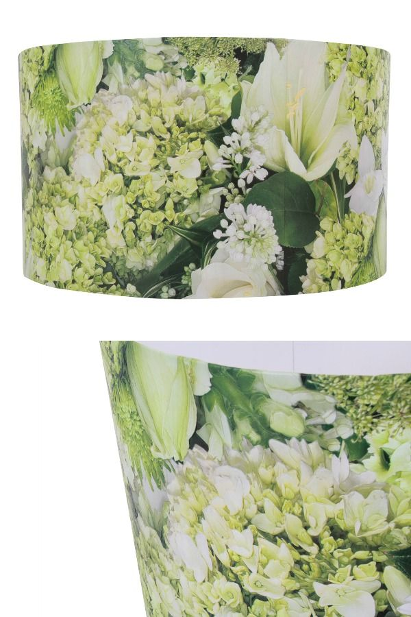 A beautiful, large lamp shade featuring the photographic floral Albany Green Flora design. This lamp shade is perfect for adding a touch of nature to your interiors. Designed to fit a pendant light.