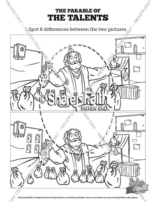 The Parable of the Talents Kids Spot The Difference