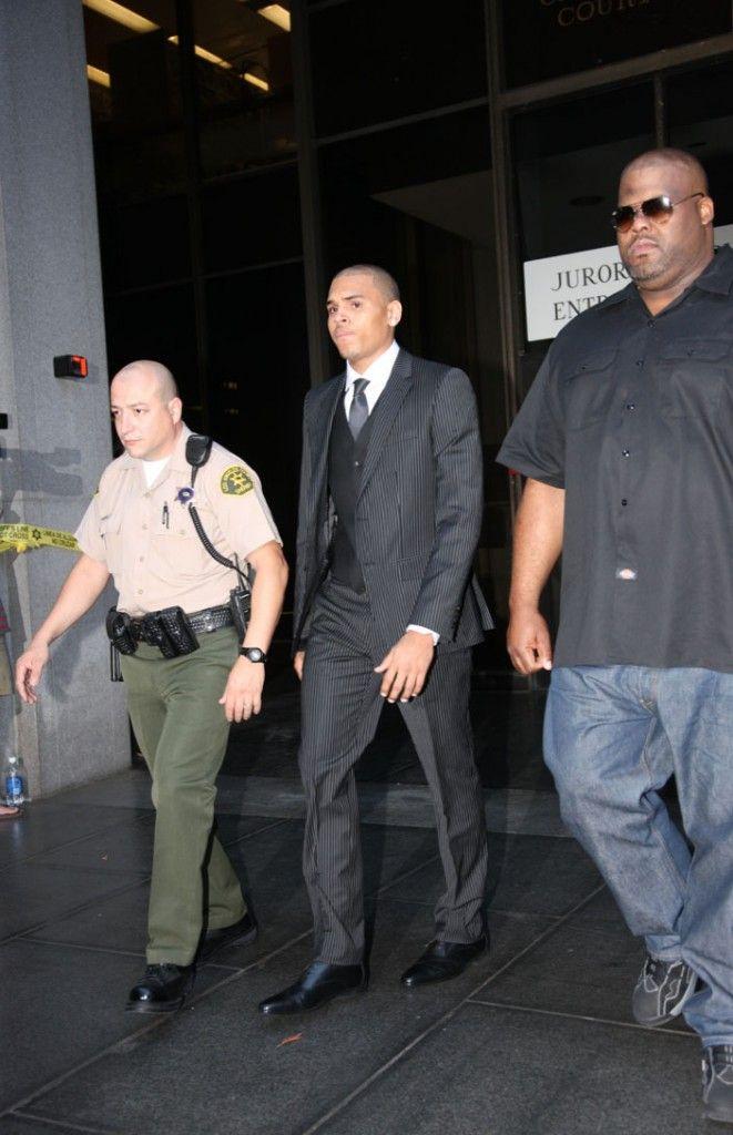 Chris Brown is sentenced in Rihanna beating